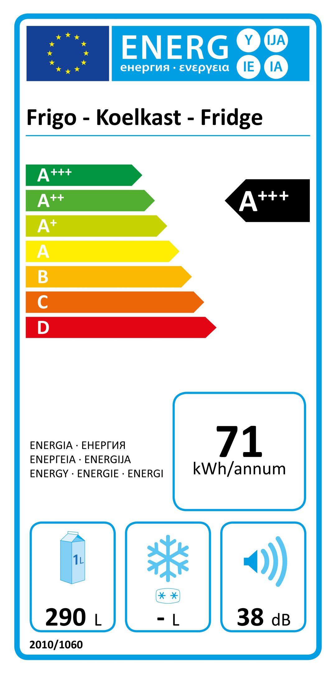 etichetta energetica di un frigo